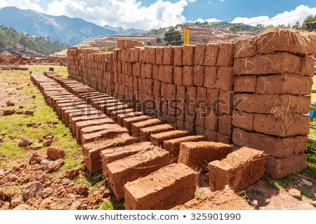 stack of adobe bricks stock photo © rhamm