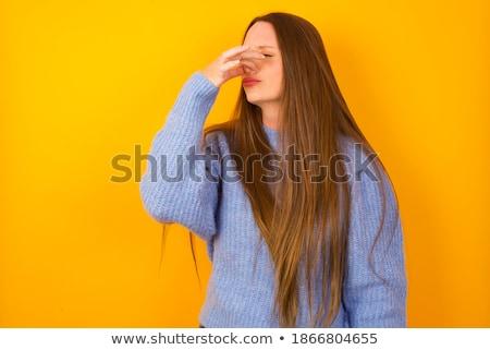Stok fotoğraf: Disgusted Nordic Girl