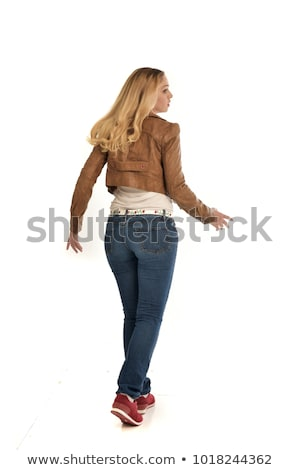 Blonde lady is posing in the winter stock photo © Kor