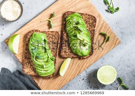 Dos centeno pan oscuro alimentos desayuno Foto stock © OleksandrO