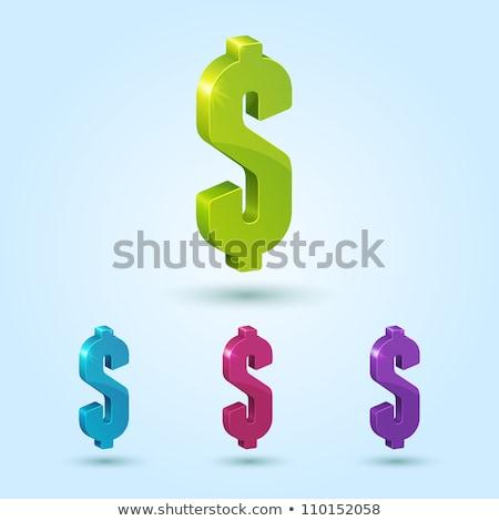 Dolar işareti mor vektör ikon dizayn web Stok fotoğraf © rizwanali3d
