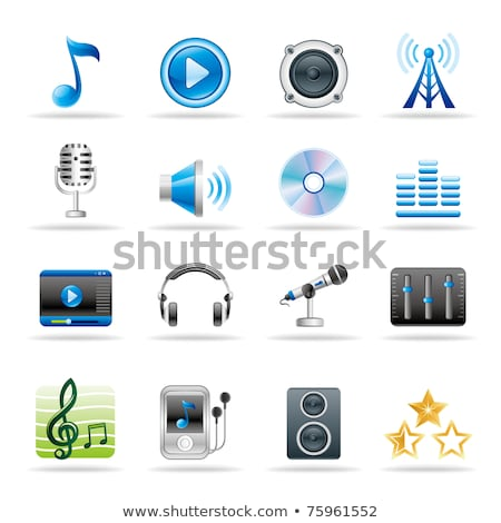 Mp3 downloaden gouden vector icon ontwerp Stockfoto © rizwanali3d