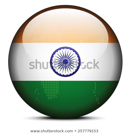 map with dot pattern on flag button of india stock photo © istanbul2009