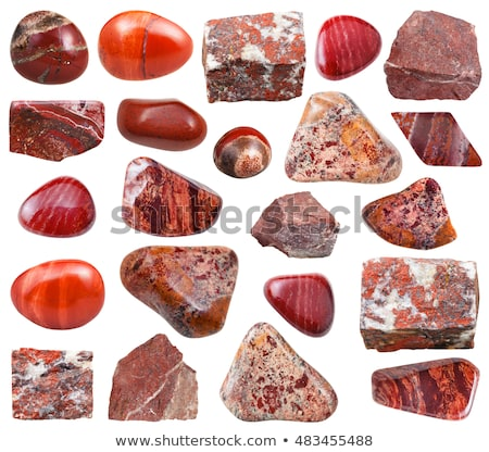 Jasper mineral isolated on a white background Stock photo © pixelman