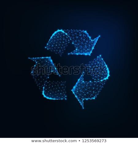 újrahasznosít · gomb · billentyűzet · számítógép · billentyűzet · kép - stock fotó © make
