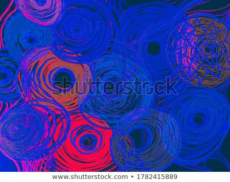 kék · jelző · kéz · ír · átlátszó · törlés - stock fotó © ivelin