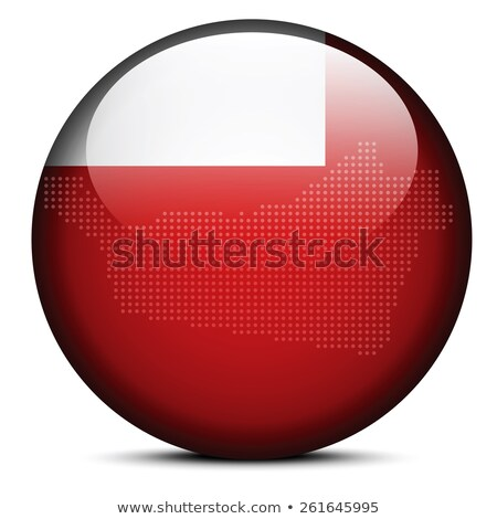 Map with Dot Pattern on flag button of United Arab Emirates, Abu Stock photo © Istanbul2009