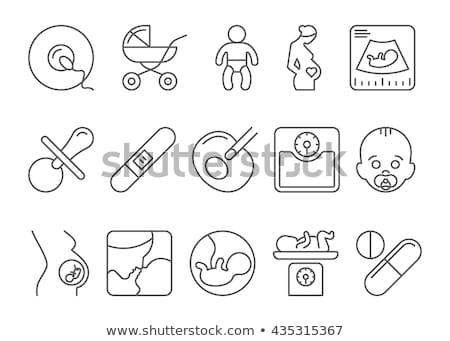 Contraception and sperm icons on white background. Stock photo © tkacchuk