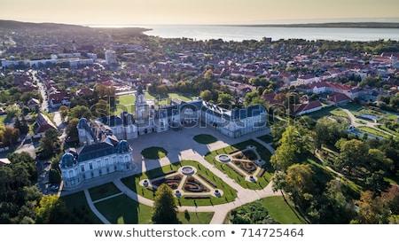 Célèbre château Hongrie Europe maison herbe Photo stock © Spectral