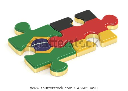 brazil and germany flags in puzzle stock photo © istanbul2009