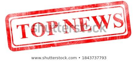 rompecabezas · palabra · una · buena · noticia · piezas · del · rompecabezas · construcción · noticias - foto stock © tashatuvango