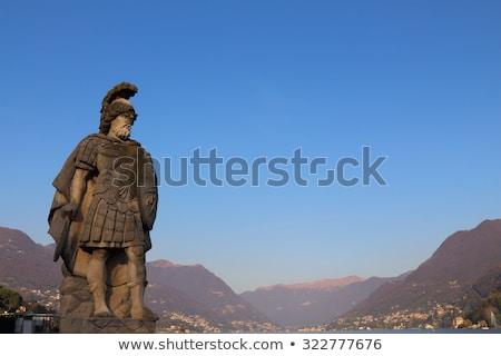 Tanrı savaş şövalye fütüristik zırh arka plan Stok fotoğraf © Yuran
