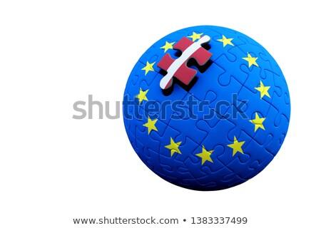 европейский Союза Латвия флагами головоломки вектора Сток-фото © Istanbul2009