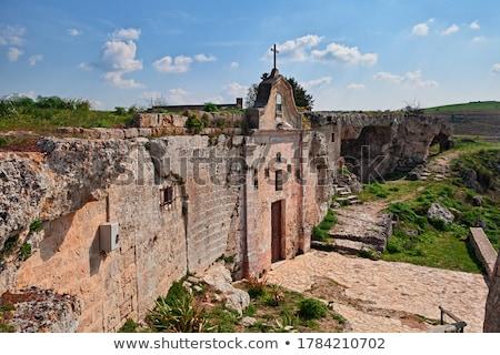 ストックフォト: 教会 · 南 · イタリア · 建設 · 壁 · 像