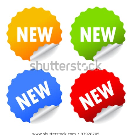 New Arrival Blue Sticky Notes Vector Icon Design Stock photo © rizwanali3d