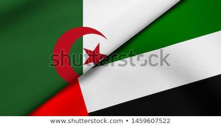 Emirados Árabes Unidos Argélia bandeiras quebra-cabeça isolado branco Foto stock © Istanbul2009