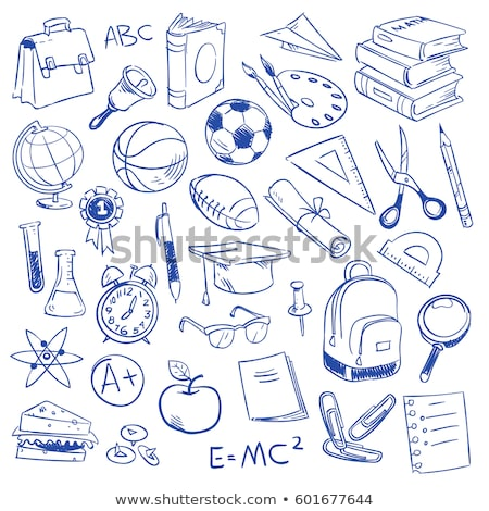 graduation cap and hand draw school icon stock photo © netkov1