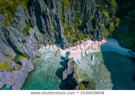 Filipinler gökyüzü deniz dağ yaz seyahat Stok fotoğraf © fazon1