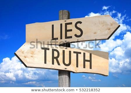 Lies word on road sign Stock photo © fuzzbones0