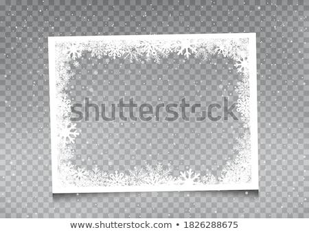 Christmas greeting card photo frame Stock photo © marimorena