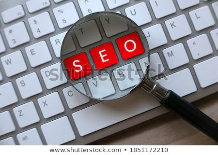 Business Optimization - Written on Red Keyboard Key. Stock photo © tashatuvango