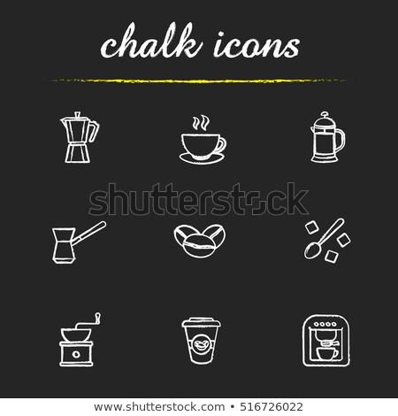 kroki · yalıtılmış · beyaz · kahve · arka · plan - stok fotoğraf © rastudio