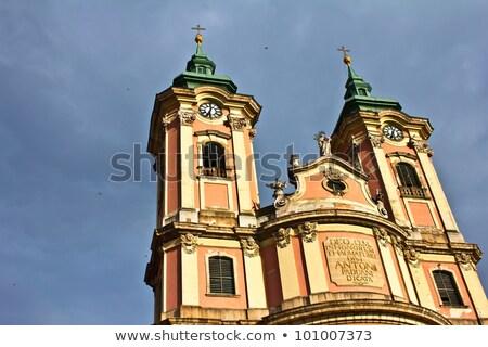 église Hongrie ciel bâtiment ville croix Photo stock © Zhukow