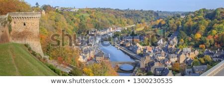 castle gardens dinan brittany france stock photo © smartin69