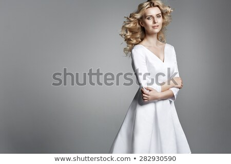 Foto stock: Senhora · vestir · moda · foto · mulher · atraente