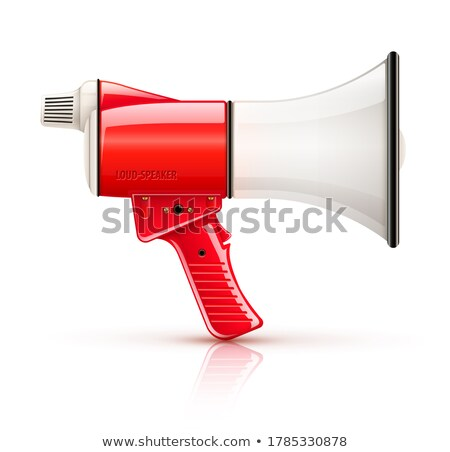 Speaking-trumpet megaphone loud-speaker for voice amplification Stock photo © LoopAll