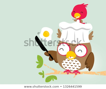 owl with chef hat Stock photo © adrenalina