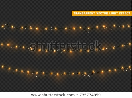 Рождества свет вектора карт приглашения искусства Сток-фото © rommeo79
