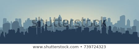 Stock photo: city silhouette