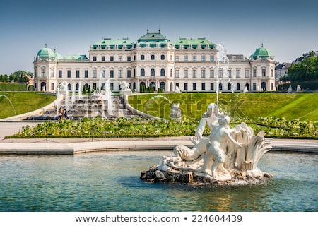 belvedere palace in summer vienna austria stock photo © meinzahn