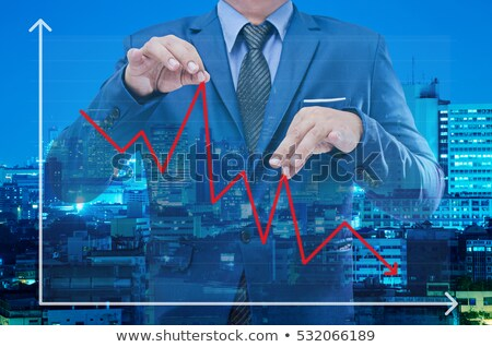 ビジネスマン · 矢印 · ダウン · 赤 · 男 - ストックフォト © nruboc