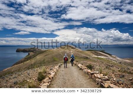 великолепный пейзаж Боливия мнение солнце лодка Сток-фото © meinzahn