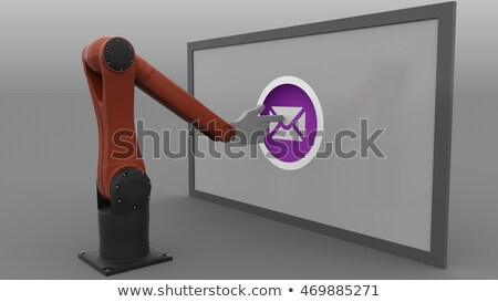 Automatisch robot pop art retro-stijl business reclame Stockfoto © studiostoks