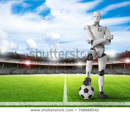 robot playing football stock photo © kjpargeter