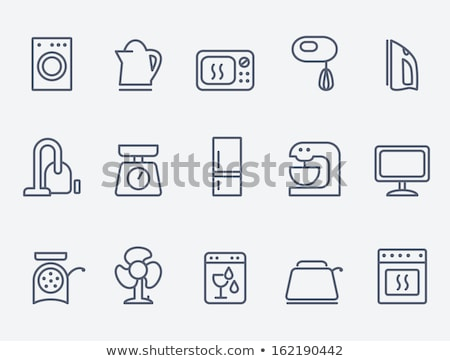 household appliances line icon stock photo © rastudio