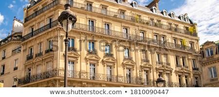 Français architecture typique fenêtres traditionnel Paris Photo stock © dariazu