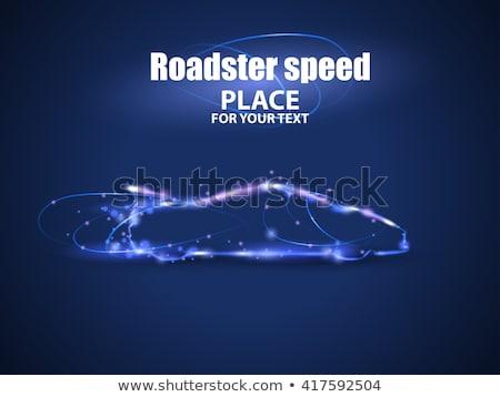roadster · particelle · velocità · vettore · salute · sfondo - foto d'archivio © Samoilik