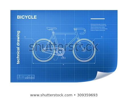 blueprint of bike stock photo © iconify