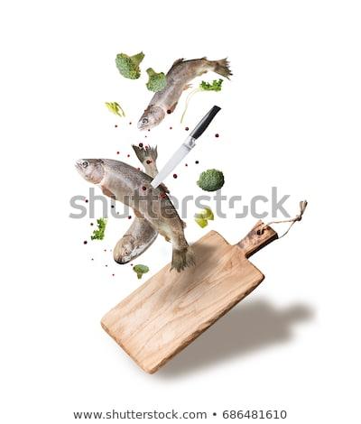 fresh trout on cutting board stock photo © digifoodstock