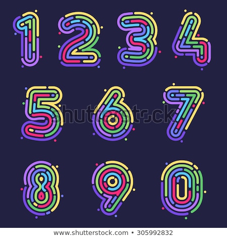 empreintes · alphabet · nombre · grunge · détaillée - photo stock © PokerMan