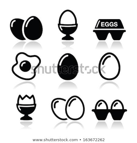 eggs icon stock photo © angelp