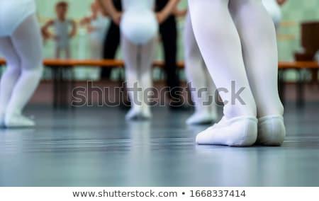 Kid meisje balletdanser communie illustratie weinig Stockfoto © lenm
