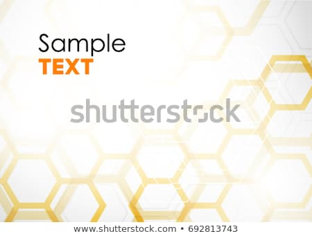 Brochure with Orange Cell Backgrounds. stock photo © sdmix