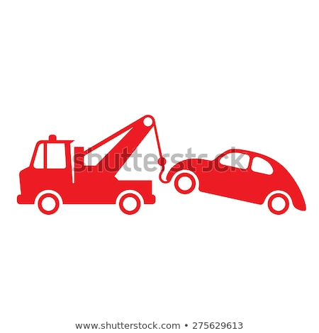 Tow truck in red color Stock photo © bluering