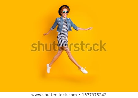 A girl walking on air Stock photo © bluering