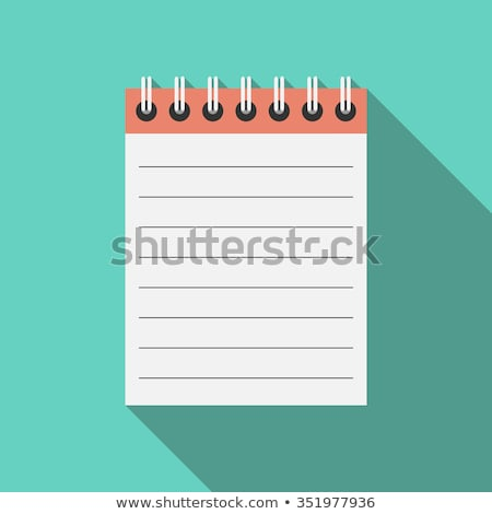 Eight blank white memo pads Stock photo © ozgur